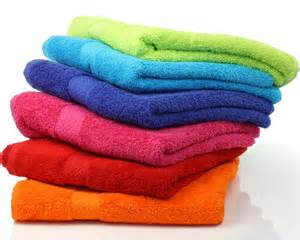 Dyed color towel